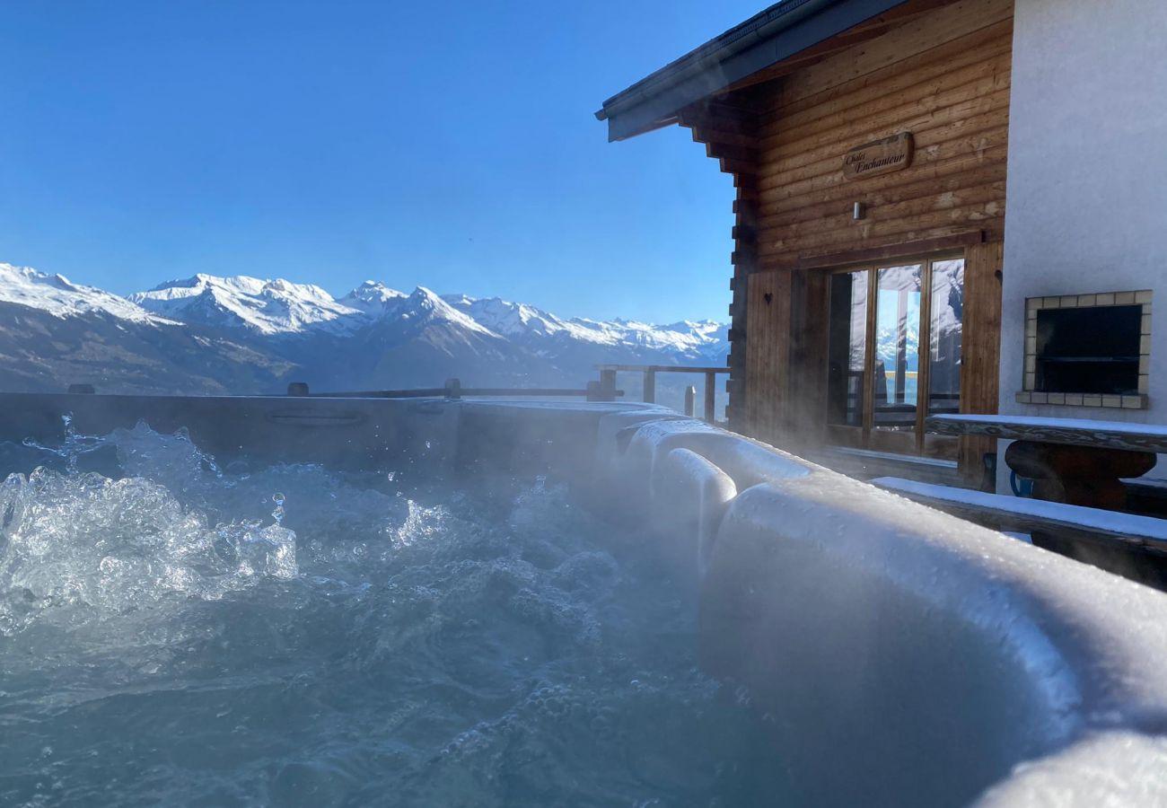 Chalet in Haute-Nendaz - Chalet Enchanteur sauna, jacuzzi, 13pax